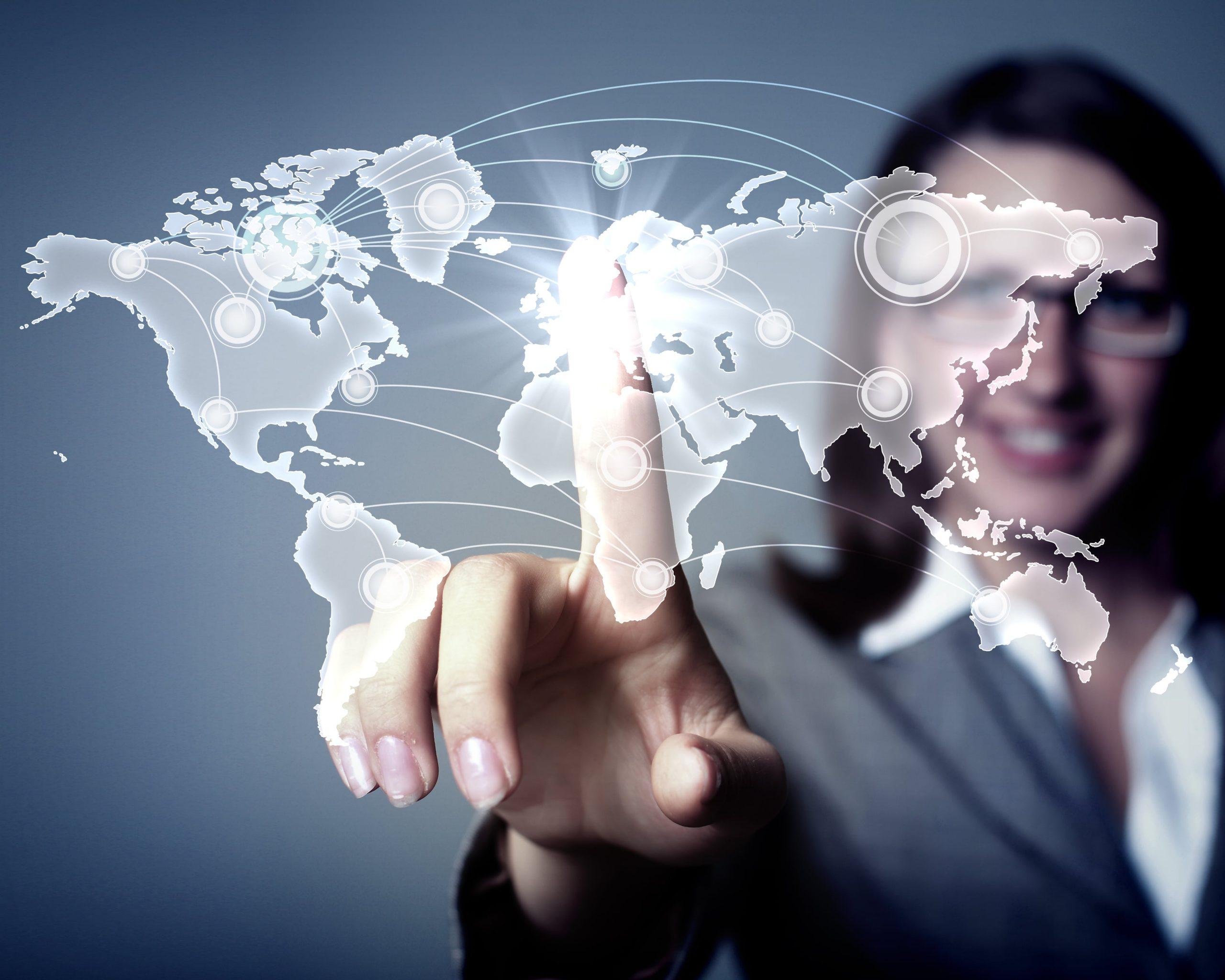 Vernetzter Globus